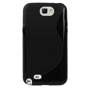 Coque noir silicone pour Samsung Galaxy Note 2