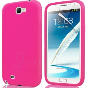 Coque couleur rose pour Samsung Galaxy Note 2