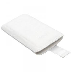 Etui cuir blanc à languette KONKIS pour Samsung Galaxy Note 2