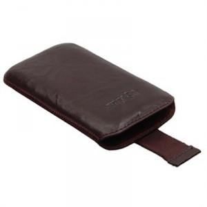 Etui vertical cuir marron pour le Samsung Galaxy Note 2
