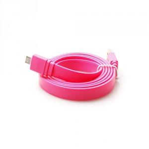 Câble data micro USB ultra plat tous coloris - marque Konkis