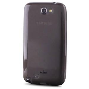 Coque Puro Samsung Galaxy Note 2 noire transparente