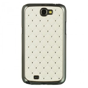 Coque strass blanche pour Samsung Galaxy Note 2