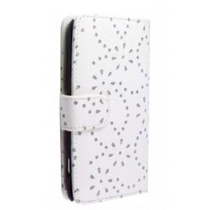 Etui strass couleur blanc pour Samsung Galaxy note 2