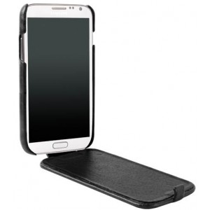 Etui rabat ultra-fin Krusell cuir vintage noir Samsung Galaxy Note 2