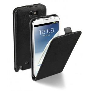 étui à rabat MOXIE luxe noir pour Samsung Galaxy Note 2