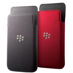 Pochette verticale microfibre noir ou rouge origine BlackBerry Z10