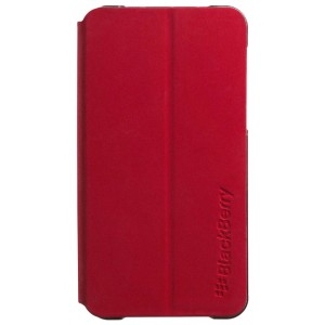 Etui coque rabat cuir rouge origine BlackBerry Z10