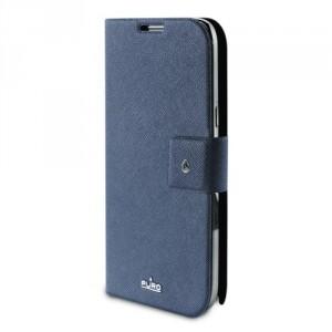 Etui bleu luxe PURO portefeuille pour Samsung Galaxy Note 2