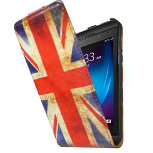 Housse à rabat drapeau Angleterre vintage pour Blackberry Z10